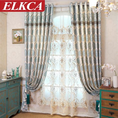 Kitchen Curtains For Sale 2016 Sale Curtains Tulle Jacquard Fabric Kitchen Curtains For Living Room European