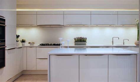 High Gloss White kitchen with White Quartz worktops, Haywards Heath