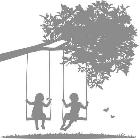 girl on swing silhouette tree swing silhouette www imgkid com the image kid has it