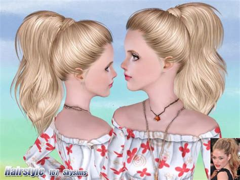 the sims 3 cc hair wrapped ponytail hair 167 by skysims sims 3 downloads cc