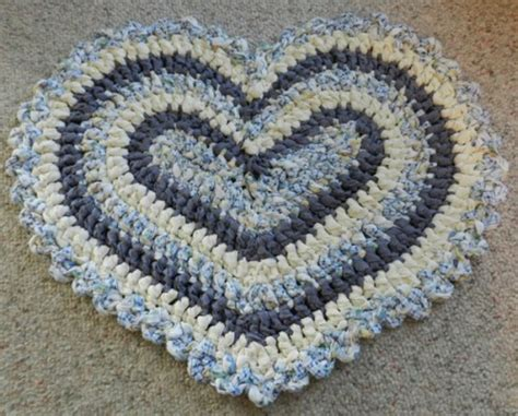heart pattern rugs knitnut on artfire com