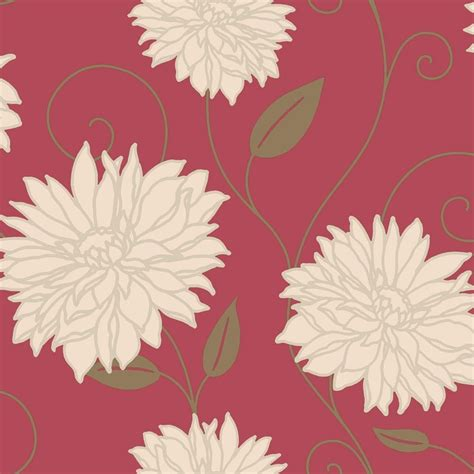 buy crown starflower wallpaper red cream gold