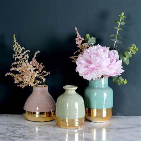 Lustre Vases by Pastel Lustre Vases Set Of Three By Miafleur