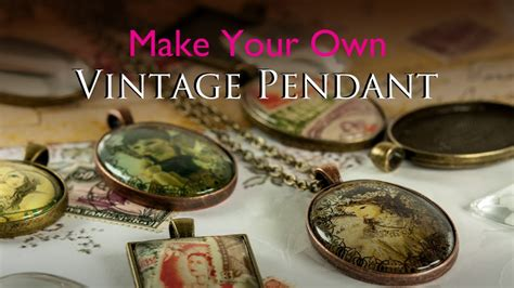 Pendants For Jewelry Making - make your own vintage pendant glass tile tray vintage jewellery kit youtube