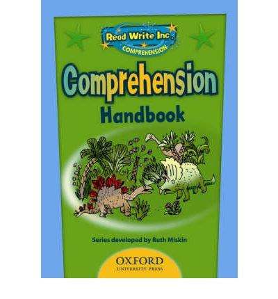 read write inc comprehension 1845077873 read write inc comprehension handbook ruth miskin 9780198462415