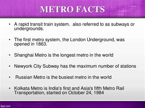 Essay In Metro by Metro Rail Seminor