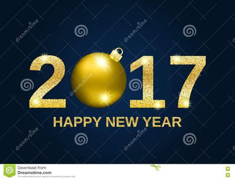 new year greeting gold gold glitter happy new year 2017 background stock vector