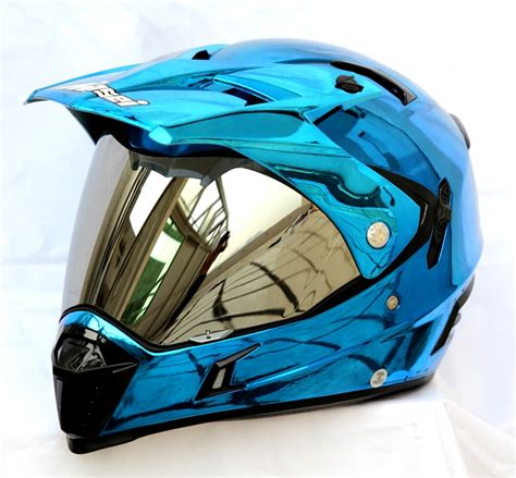 Ktm Bike Helmet Masei Blue Chrome 311 Atv Motocross Motorcycle Icon Ktm Helmet