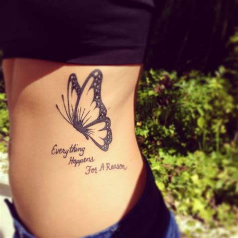 Tattoo Quotes Butterfly | butterfly and quote tattoo