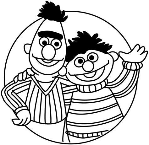 Sesame Street Bert And Ernie Coloring Pages Coloring Home Bert And Ernie Coloring Pages