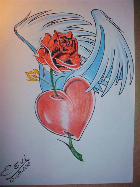 imagen de amor de una rosa con corazones rosados graffitis de rosas arte con graffiti