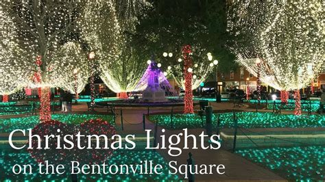 free christmas lights in arkansas lights on the bentonville square in arkansas