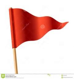 bandierina triangolare rossa d ondeggiamento immagine