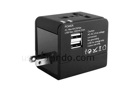 Hoco Dual Usb Universal Travel Charger Power Adapter 2 4a Ac3 universal travel adapter with dual usb ac charger