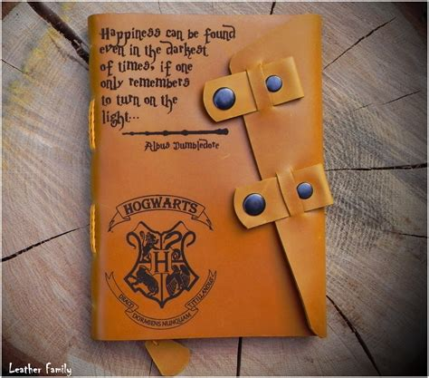 sketchbook custom cover leather harry potter notebook personalized harry potter