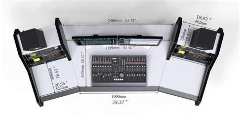 Pro Line All Black Studiodesk Professional Studio Desk