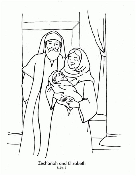 Elizabeth And Zechariah Coloring Pages