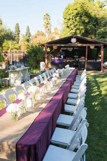Back yard wedding: purple and tan/burlap   Wedding ideas