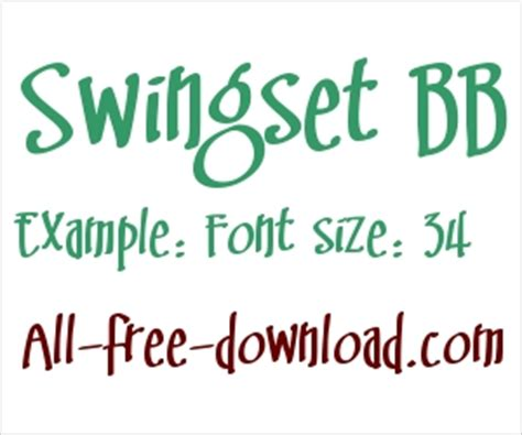 swing set font carnival free truetype font for free download about 3
