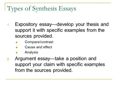 Analysis And Synthesis Essay by Ap Language Exams Prompts And Hints Ppt