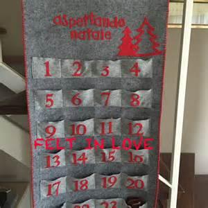 Calendario Avvento Calendario Dell Avvento In Feltro Realizzato A Mano
