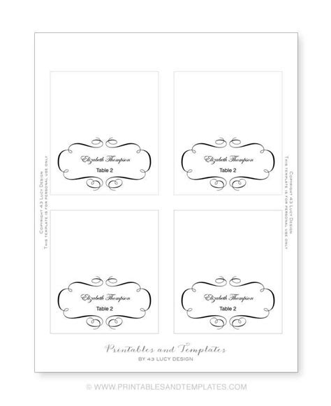 Free Place Card Templates 6 Per Page Video Search Engine At Search Com Reserved Place Card Template
