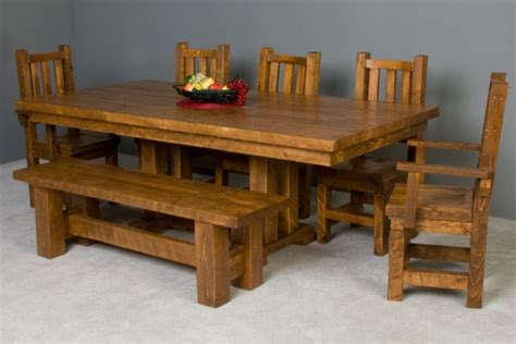 Barn Wood Dining Room Table Barn Wood Trestle Dining Table