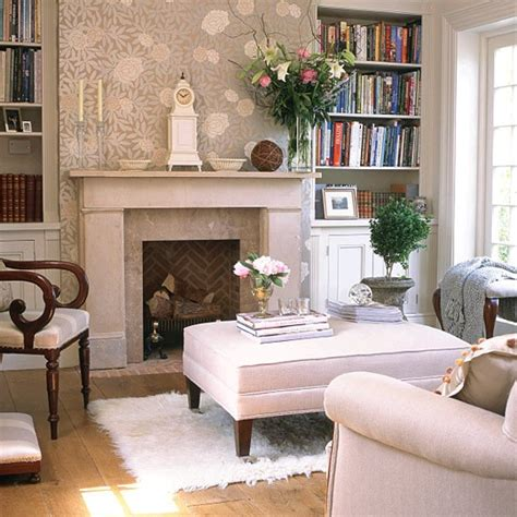 feature wall ideas living room with fireplace neutral room with floral feature wall bookcases