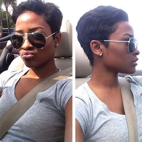 pictures of pixie haircuts on relaxed black hair 17 best images about short pixies on pinterest curls