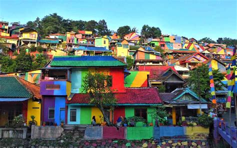 Search Indonesia This Remote Town In Indonesia Painted Itself Entirely In Rainbows Travel Leisure