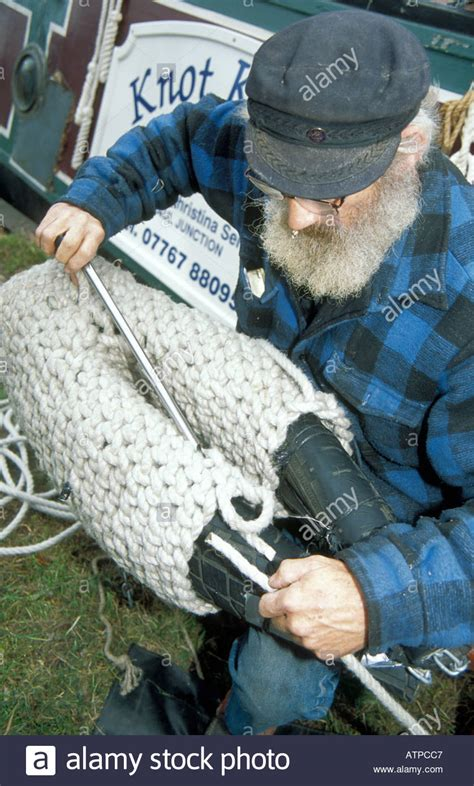 canal boat rope fenders ben self making traditional boat fenders from rope on his