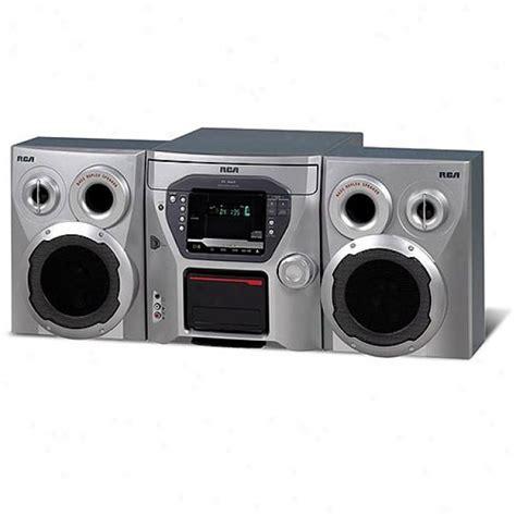 disk cd changer bookshelf audio system rca rs2663 5 disk