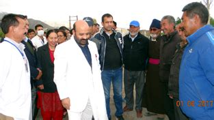 Entering Bali With A Criminal Record Minister For Health And Education Bali Bhagat During His Visit To Leh