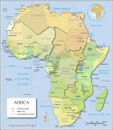 Africa Map Capitals by List Showing All African Countries Amp Their Respective