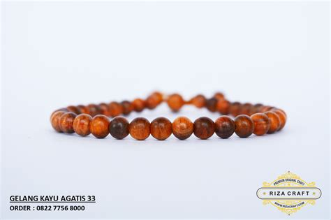 Gelang Kayu Agathis Ukuran Sedang gelang kayu agathis merah sms wa 08227756 8000