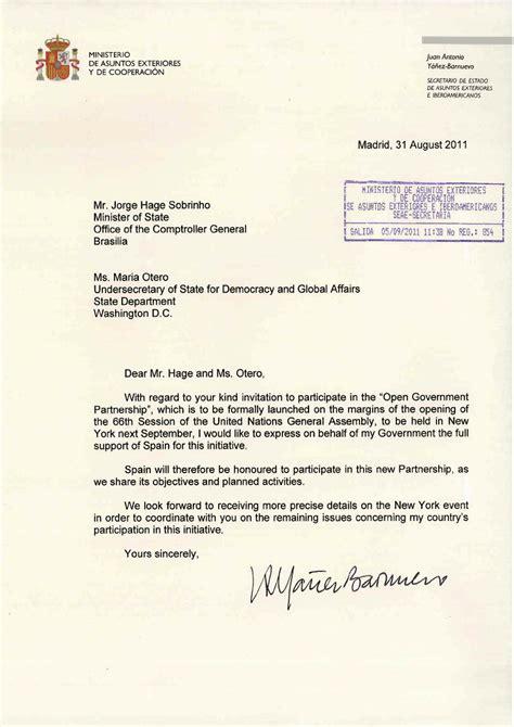 Letter For Hosting An Event Spaanse Regering Stapt Naar Hooggerechtshof Om Open Overheid Tegen Te Houden