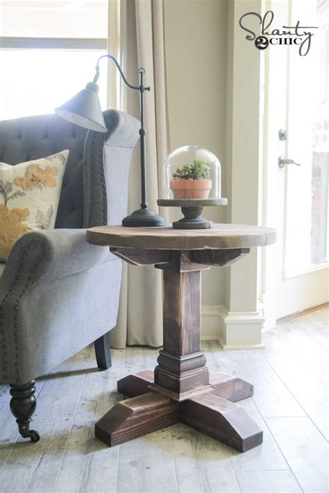 diy  side table shanty  chic