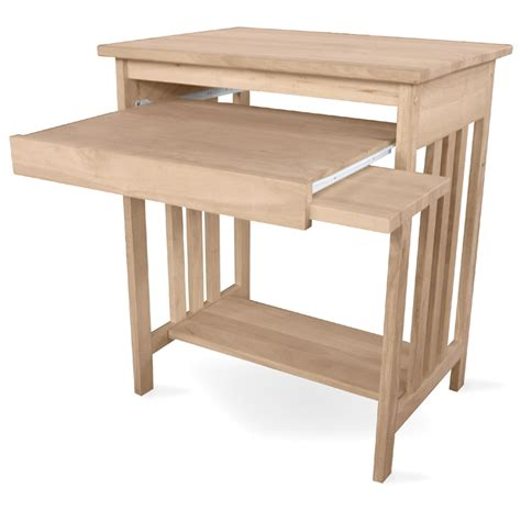 Unfinished Computer Desk International Concepts Unfinished Wood Mission Computer Desk Reviews Wayfair