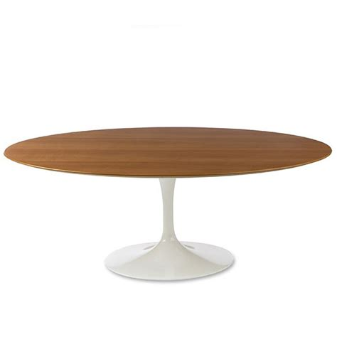 Saarinen Oval Dining Table Knoll Saarinen Large Oval Dining Table 244x137cm White Base