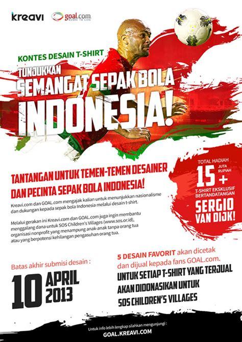 kontes desain indonesia dalam rangka ulang tahun ke 5 goal com indonesia gelar