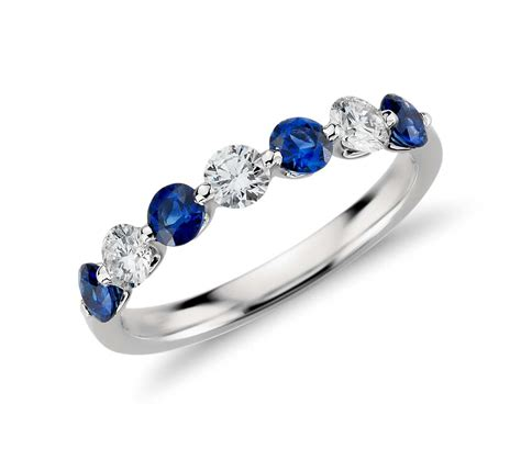 classic floating sapphire and ring in platinum 3