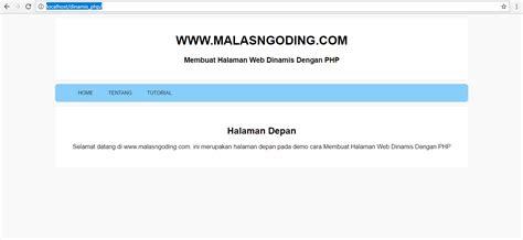 membuat halaman admin web dengan php membuat halaman web dinamis dengan php malas ngoding