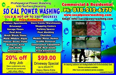 Socalpowerwashing Flyer From So Cal Power Washing In North Hills Ca 91343 Power Washing Flyer Templates Free