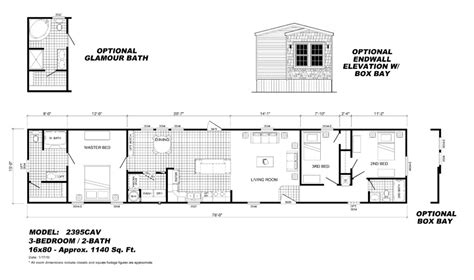 trailer home plans 1995 fleetwood manufactured home floor plans