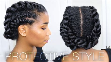 hairstyles for african american women working out these 2 protective natural hairstyles prove that versatile