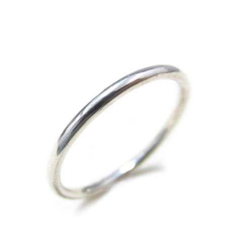 1 5mm thin plain sterling silver stackable band ring