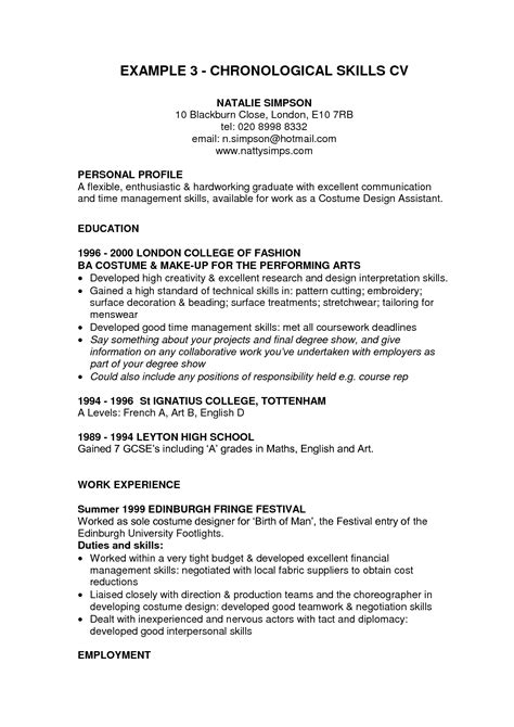 personal skills cv sles personal qualifications on resume resume ideas