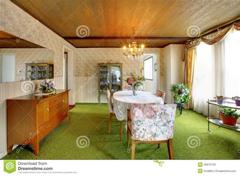 www home interior com old fashioned house interior dining room stock photo