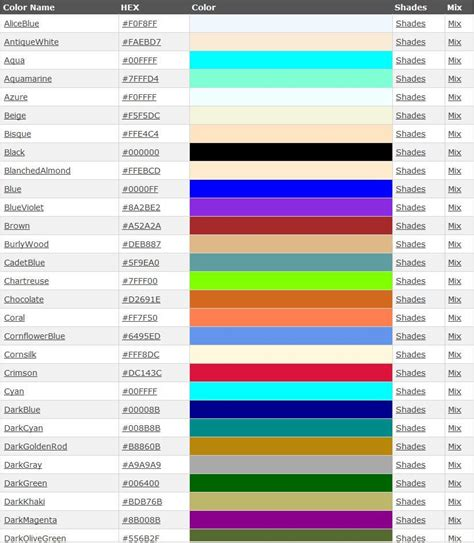 list of color gallery list of colors and shades women black