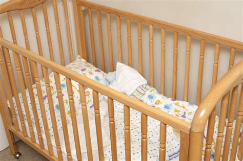 Cot Or Crib by Free Image Of Empty Wooden Baby Cot Or Crib
